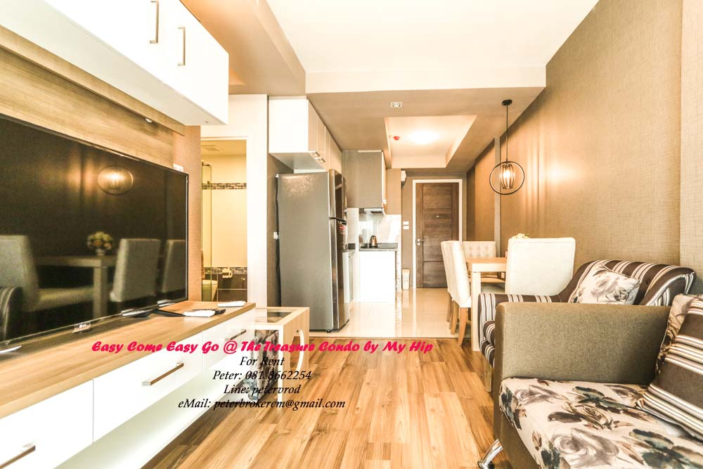 Two Bedroom Condo Rental On 7th Floor Of The Treasure By My Hip Chiang Mai Condo For Rent