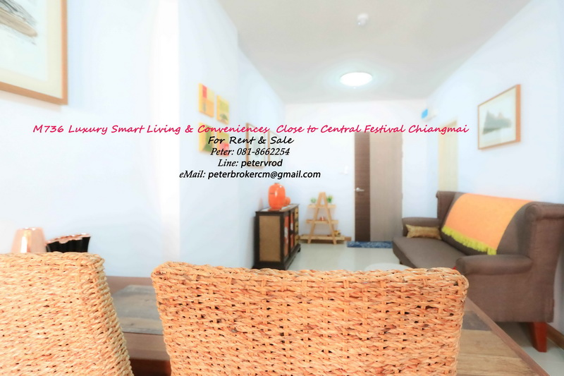 Floor 31 , 46 Sqm. SUPALAI MONTE @ VIANG CHIANGMAI Condo for Rent