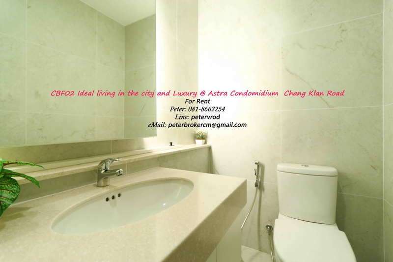 The Astra Condo Full Furnished 59 Sqm. 2 bedroom Near Night Bazaar & Pantip Plaza