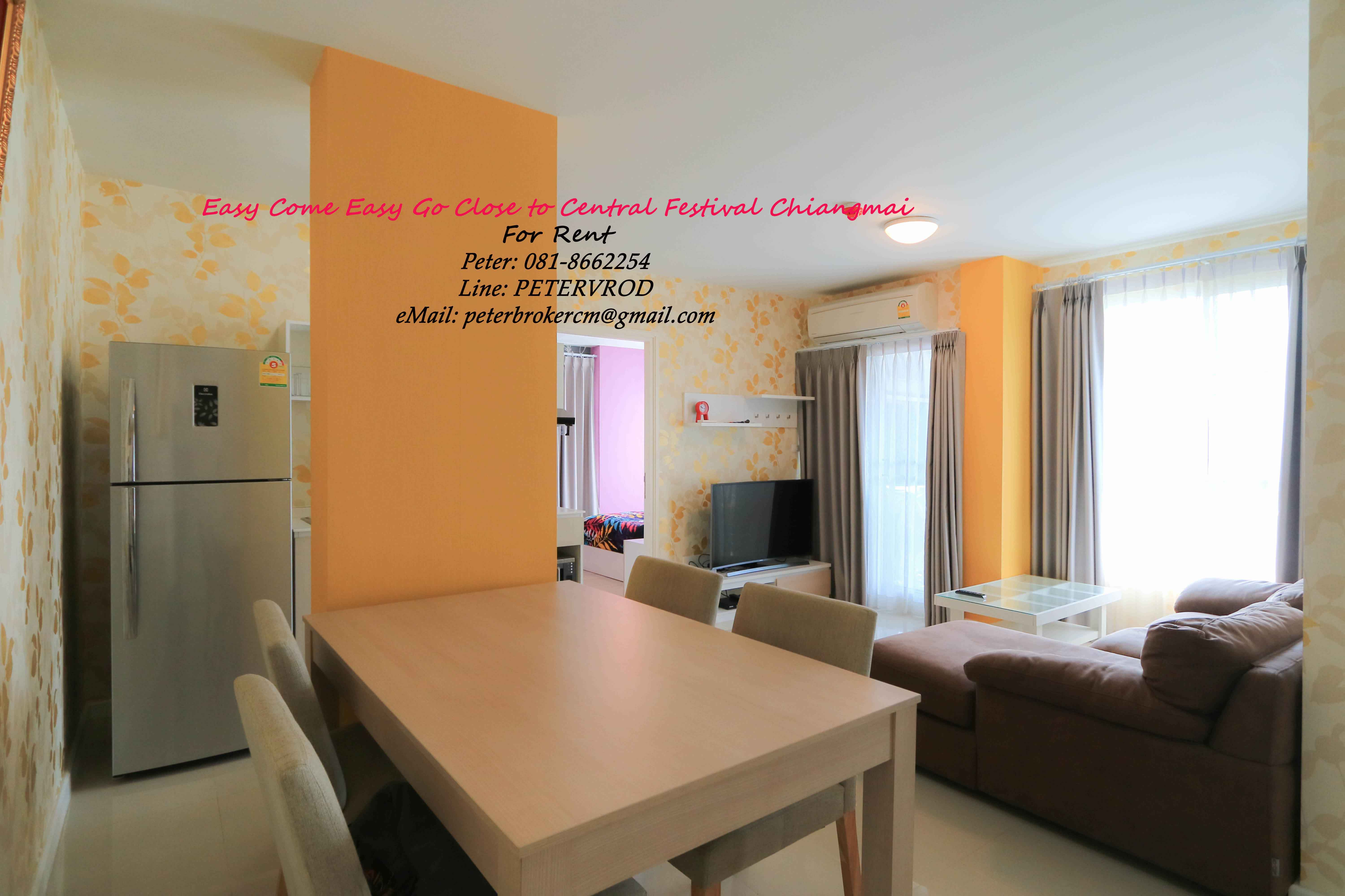 Pool View 60 Sqm 2 bedroom ,DCondo Sign next door to Central Festival