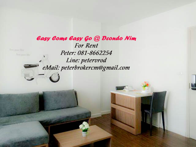 dcondo nim apartment for rent A nicely presented at chiang mai