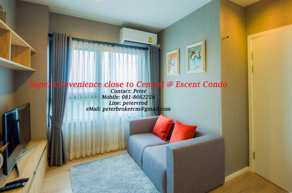 Escent Central Festival Ching Mai condo for rent Excellent 1 bedroom in chiang mai