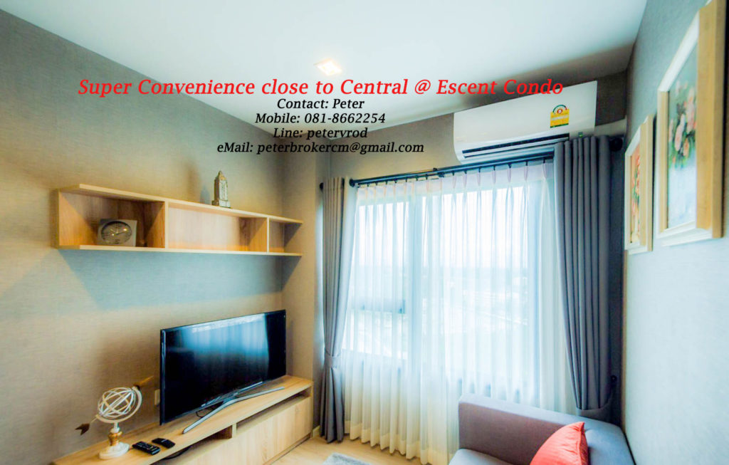 Escent Central Festival Ching Mai for sale Excellent 1 bedroom chiang mai