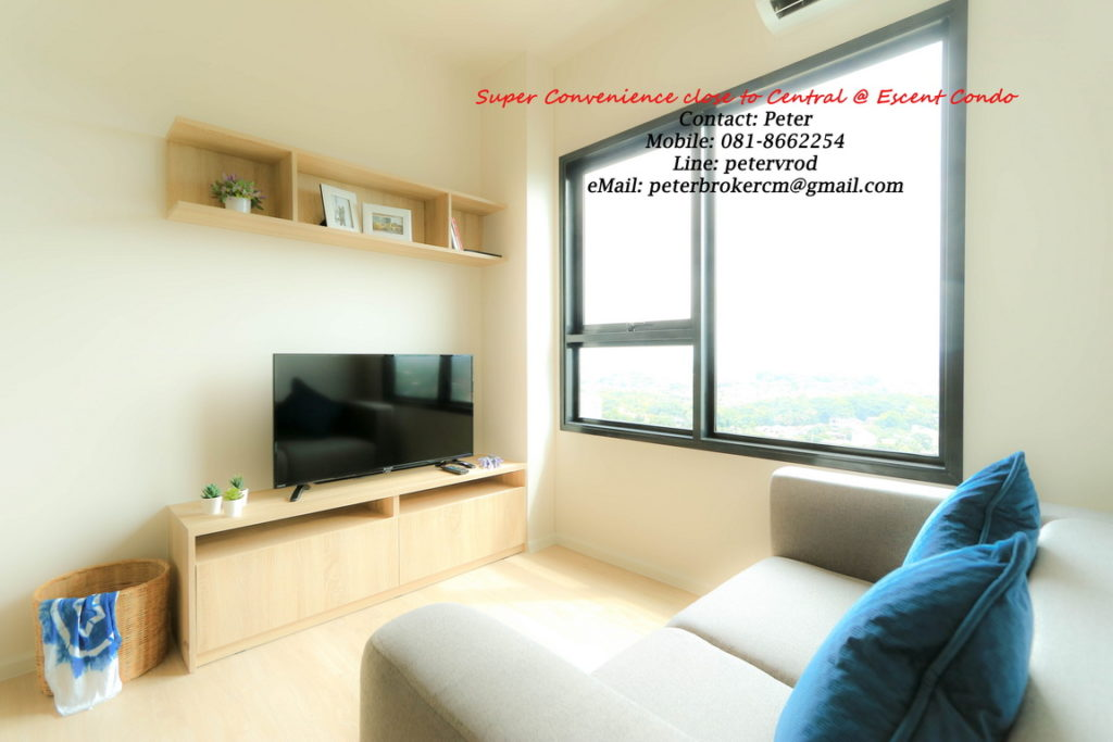 Escent Central Festival Ching Mai room for rent Luxury 1 bedroom chiang mai