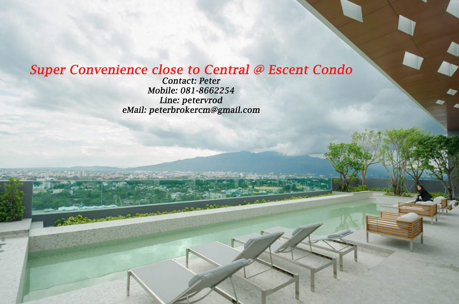 31 Sqm 24th floor Escent Condo Chiang Mai with Beautiful 1 Bedroom