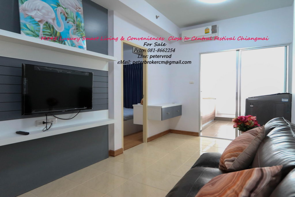 Supalai Monte @ Viang apartment for rent Beautiful studio bedroom at chiang mai
