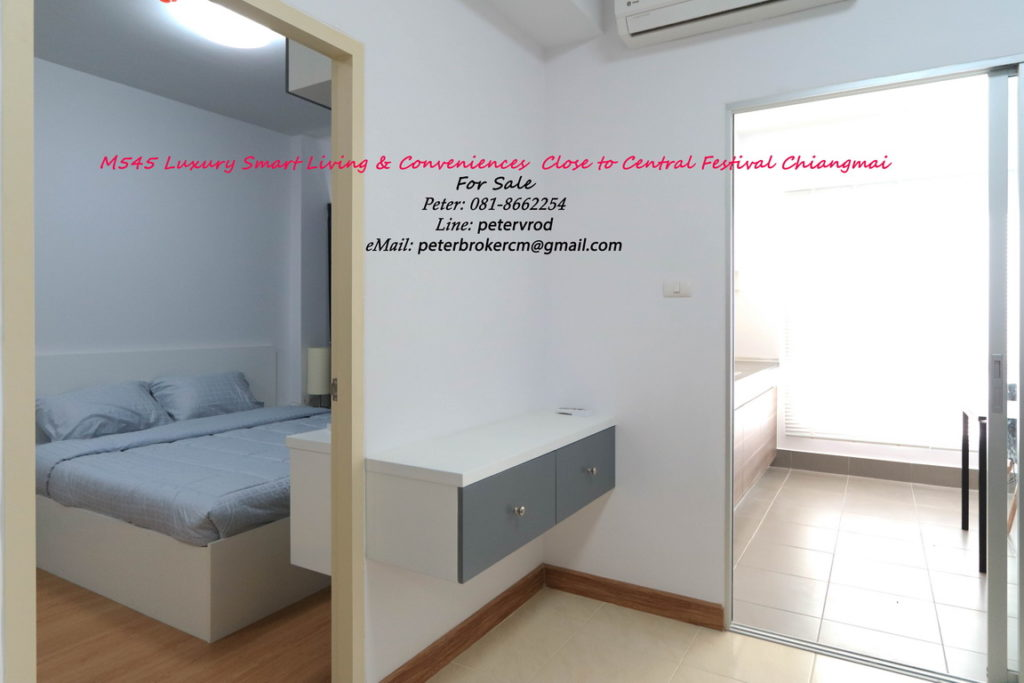rental Supalai Monte @ Viang Beautiful studio bedroom chiang mai