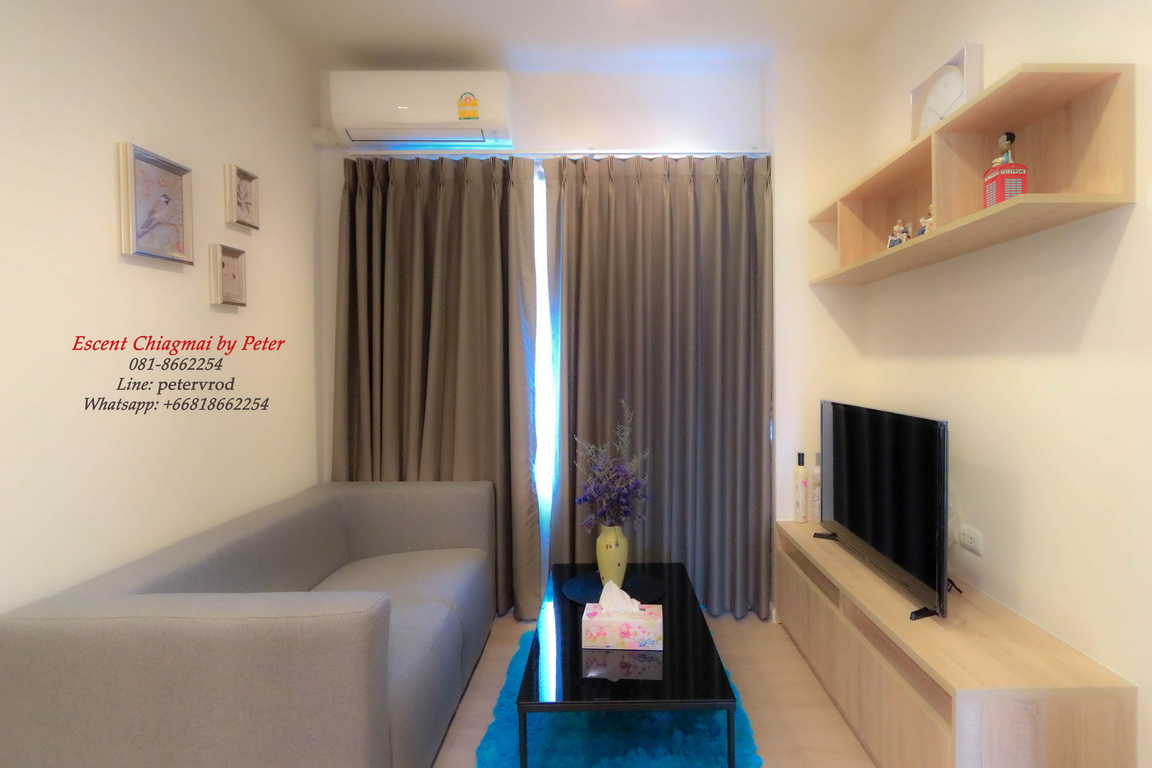 Fully Furnished & Equipped Chiang mai Condo Rental At Escent Condo