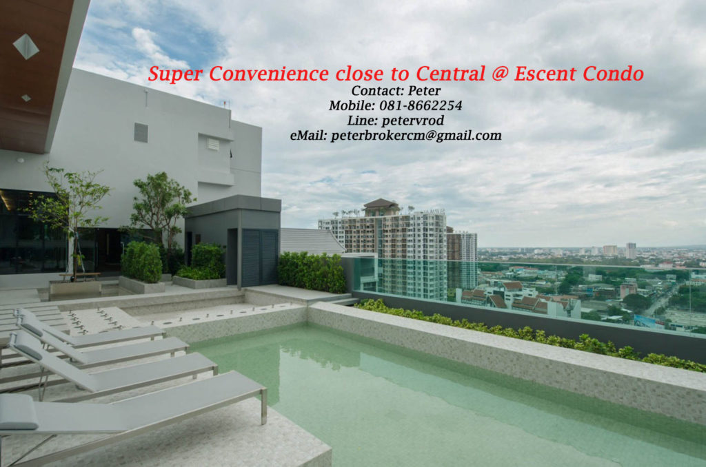 Escent Central Festival Ching Mai apartment for rent fabulous 1 bedroom at chiang mai