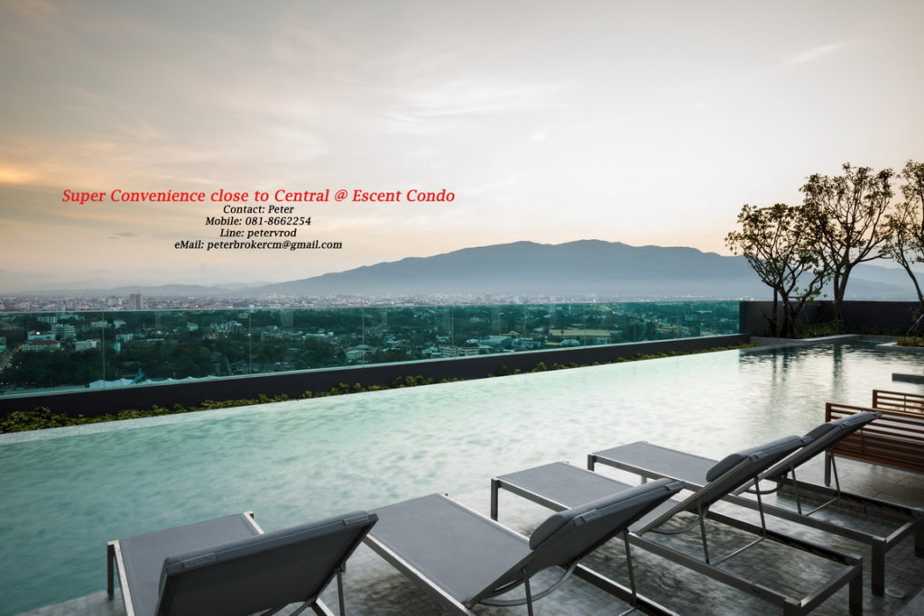 Escent Central Festival Ching Mai apartment for rent chic 1 bedroom at chiang mai