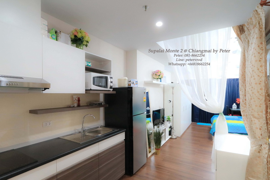 33 Sqm 6 th Supalai Monte 2 Condo Fully furnished Condo for Rent