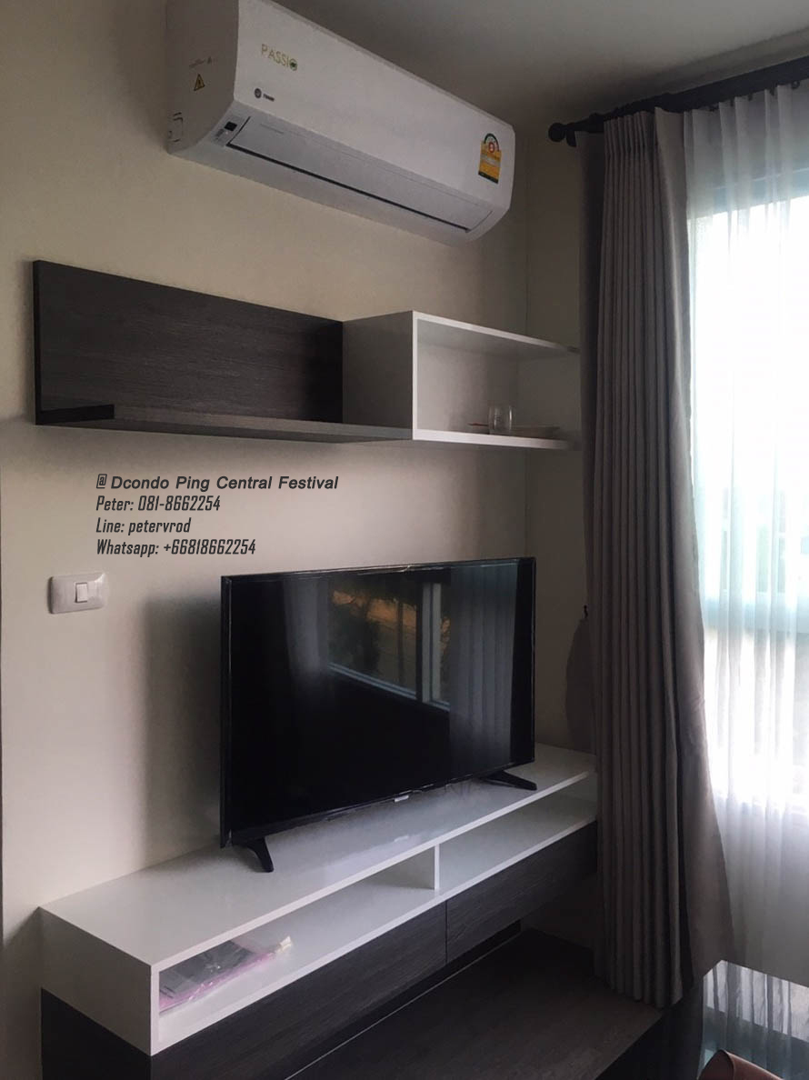 Dcondo Ping Condo for Rent 38 Sqm 5th floor 1 bedroom near Central Festival
