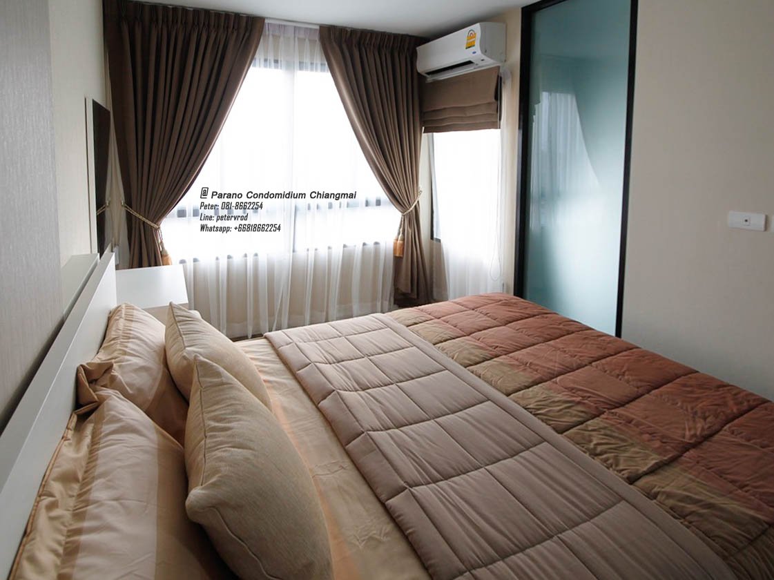 Parano Condo @ Chiangmai Full Furnished 30 Sqm. 6th 1 bedroom Opposite Promenada Chiang Mai 9,000 Baht/Month