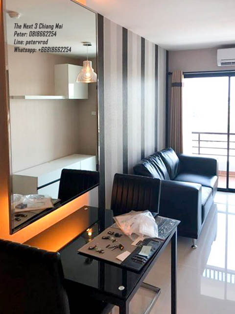 A fully furnished 32 Sqm,The Next 3 Condo near Lotus Ruam Choke