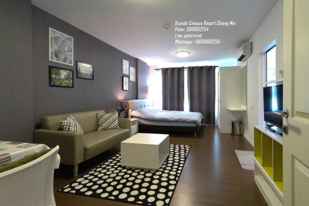 DCondo Campus Resort condo for rentComfortably Furnished 1 bedroom in chiang mai