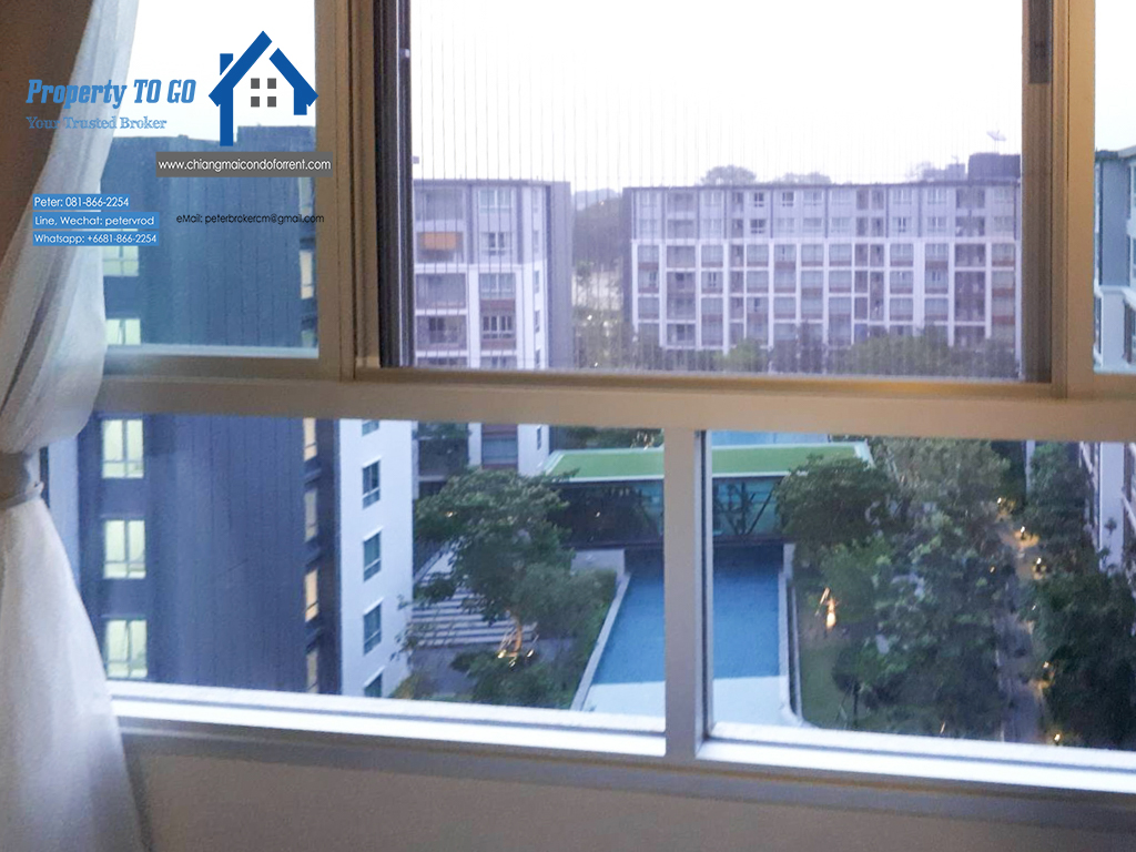 Pool View Dcondo Ping Condo for Sale 30 Sqm 8th floor 2.7 MB including transfer fee