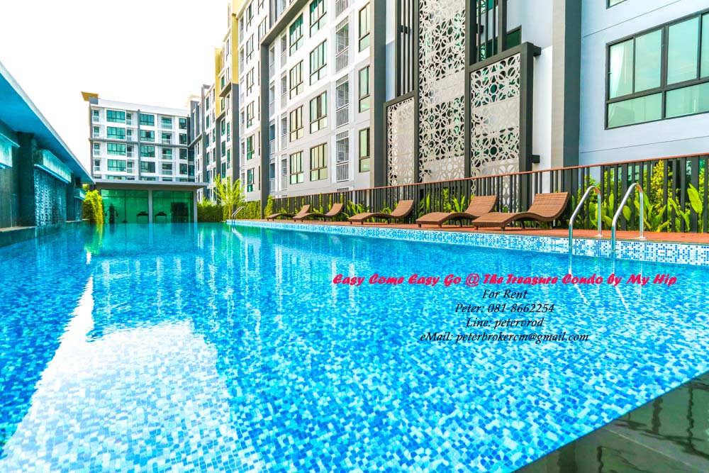 Pool View The Treasure Condo by My Hip 36 Sqm 6th Floor Condo for Rent